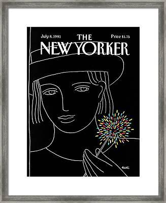 New Yorker July 8th, 1991 Framed Print