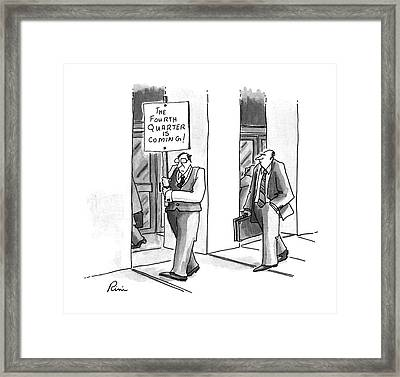 New Yorker July 8th, 1996 Framed Print by J.P. Rini
