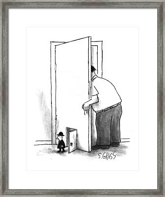 New Yorker July 8th, 1996 Framed Print by Sam Gros
