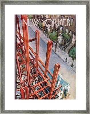 New Yorker July 9th, 1955 Framed Print