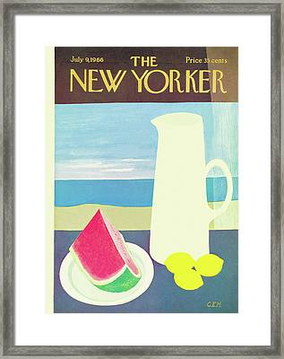 New Yorker July 9th, 1966 Framed Print by Charles E. Martin