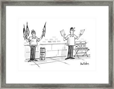 New Yorker July 9th, 1990 Framed Print by Dana Fradon