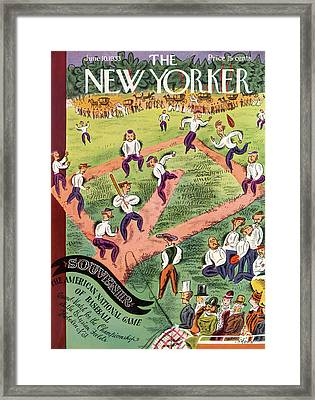 New Yorker June 10th, 1933 Framed Print by Harry Brown