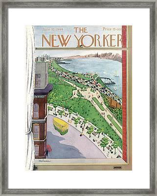 New Yorker June 10th, 1944 Framed Print by Christina Malman