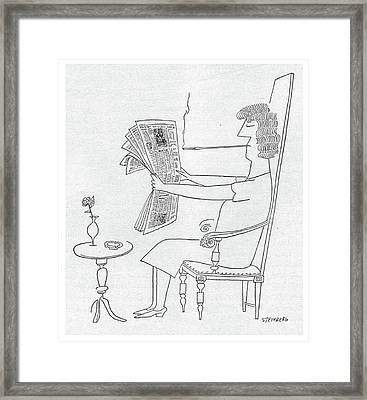 New Yorker June 10th, 1950 Framed Print by Saul Steinberg
