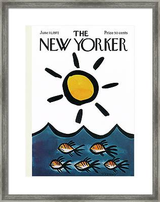 New Yorker June 10th, 1972 Framed Print by Donald Reilly