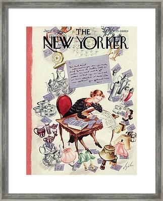 New Yorker June 11th, 1938 Framed Print by Constantin Alajalov