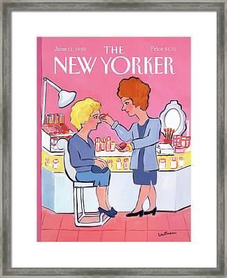 New Yorker June 11th, 1990 Framed Print