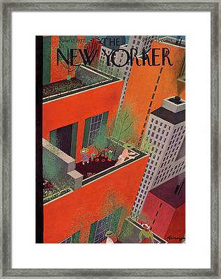 New Yorker June 12th, 1937 Framed Print by Adolph K. Kronengold