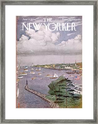 New Yorker June 13th, 1964 Framed Print