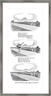 New Yorker June 13th, 1970 Framed Print by William O'Brian