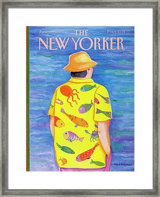 New Yorker June 13th, 1988 Framed Print by Pamela Paparone