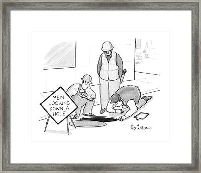 New Yorker June 13th, 1994 Framed Print by Leo Cullum