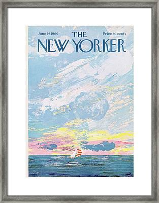New Yorker June 14th, 1969 Framed Print by Charles E. Martin