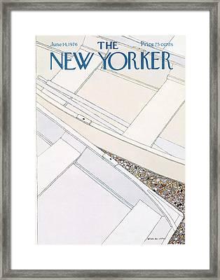 New Yorker June 14th, 1976 Framed Print