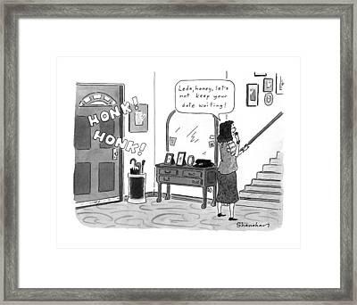 New Yorker June 15th, 1992 Framed Print by Danny Shanahan