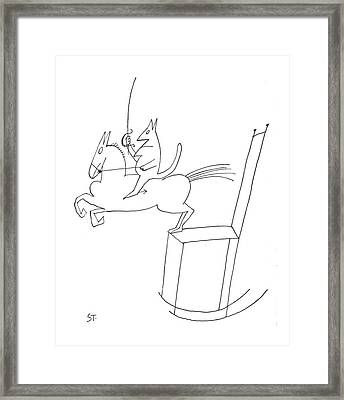 New Yorker June 16th, 1962 Framed Print by Saul Steinberg