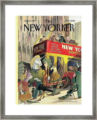 New Yorker June 16th, 1997 Framed Print by Edward Sorel