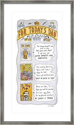 New Yorker June 16th, 1997 Framed Print by Roz Chast