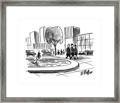 New Yorker June 16th, 1997 Framed Print by Warren Miller