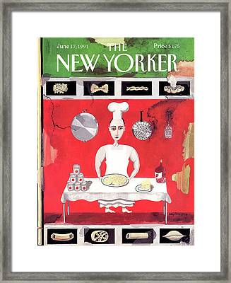 New Yorker June 17th, 1991 Framed Print by Kathy Osborn