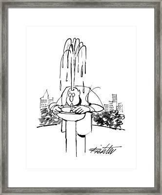 New Yorker June 17th, 1996 Framed Print by Mischa Richter