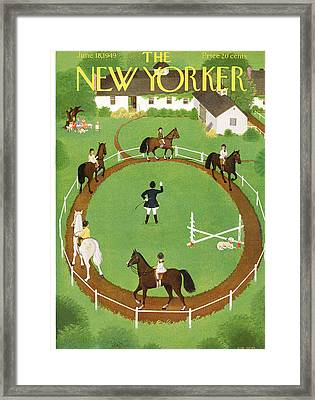 New Yorker June 18th, 1949 Framed Print by Edna Eicke