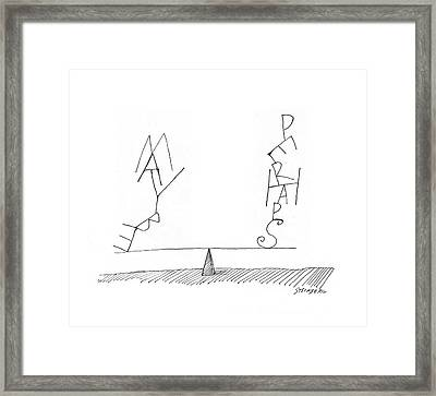 New Yorker June 18th, 1960 Framed Print by Saul Steinberg