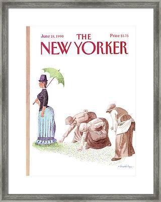 New Yorker June 18th, 1990 Framed Print by J.B. Handelsman