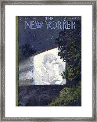 New Yorker June 19th, 1954 Framed Print by Arthur Getz
