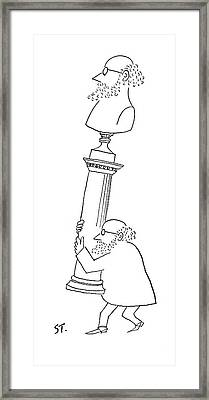 New Yorker June 19th, 1954 Framed Print by Saul Steinberg