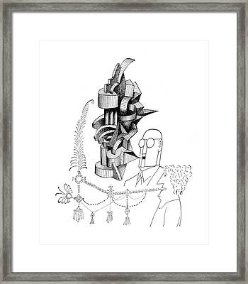 New Yorker June 1st, 1957 Framed Print by Saul Steinberg