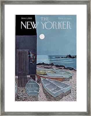 New Yorker June 1st, 1968 Framed Print by Charles E. Martin