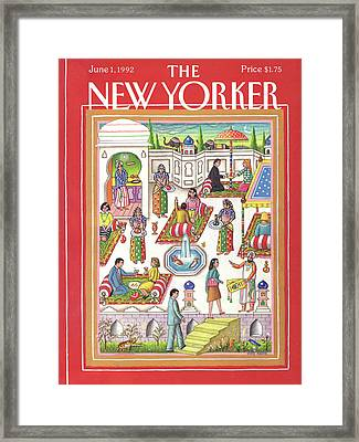 New Yorker June 1st, 1992 Framed Print by Bob Knox