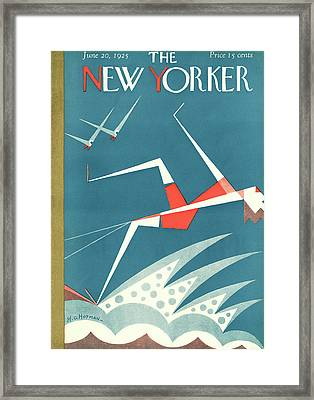 New Yorker June 20th, 1925 Framed Print by H.O. Hofman