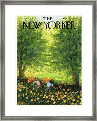 New Yorker June 20th, 1959 Framed Print