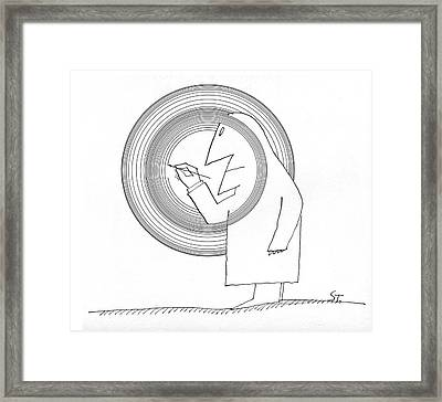 New Yorker June 20th, 1964 Framed Print by Saul Steinberg