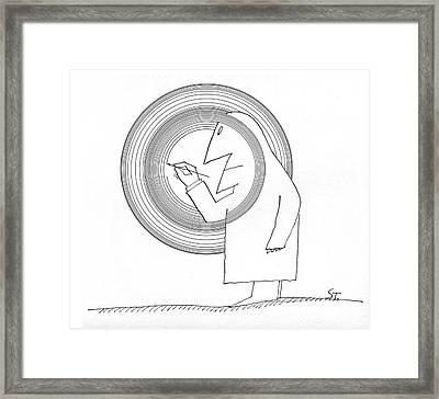 New Yorker June 20th, 1964 Framed Print by Saul Steinberg
