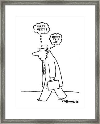 New Yorker June 20th, 1977 Framed Print by Charles Barsotti