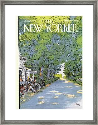 New Yorker June 21st, 1976 Framed Print by Arthur Getz