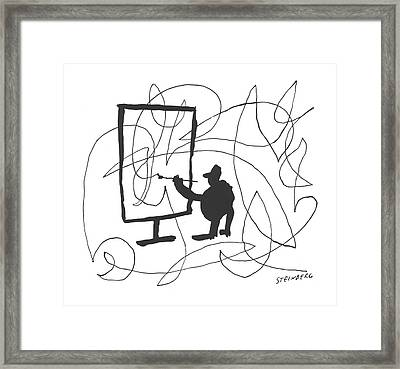 New Yorker June 22nd, 1957 Framed Print by Saul Steinberg