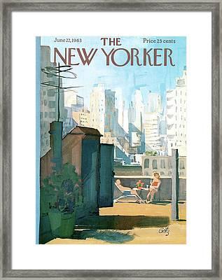 New Yorker June 22nd, 1963 Framed Print by Arthur Getz