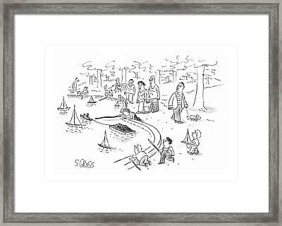 New Yorker June 22nd, 1987 Framed Print by Sam Gross
