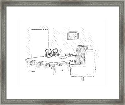 New Yorker June 22nd, 1992 Framed Print by Robert Mankoff