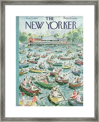 New Yorker June 23rd, 1956 Framed Print by Garrett Price