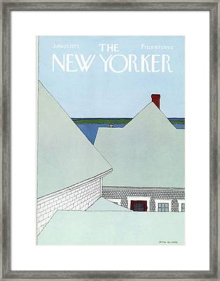 New Yorker June 23rd, 1975 Framed Print by Gretchen Dow Simpson