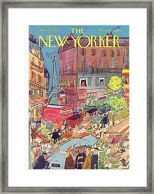New Yorker June 24th, 1950 Framed Print by Ludwig Bemelmans