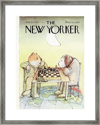New Yorker June 24th, 1974 Framed Print by Andre Francois