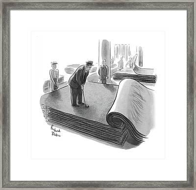 New Yorker June 25th, 1955 Framed Print by Richard Decker