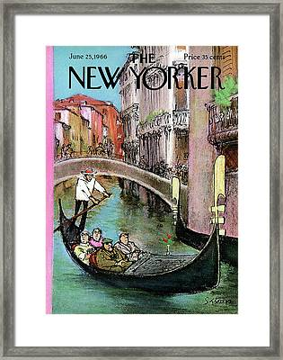 New Yorker June 25th, 1966 Framed Print